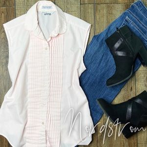 🎃 Nordstrom Pink Sleeveless Button Up Top 12